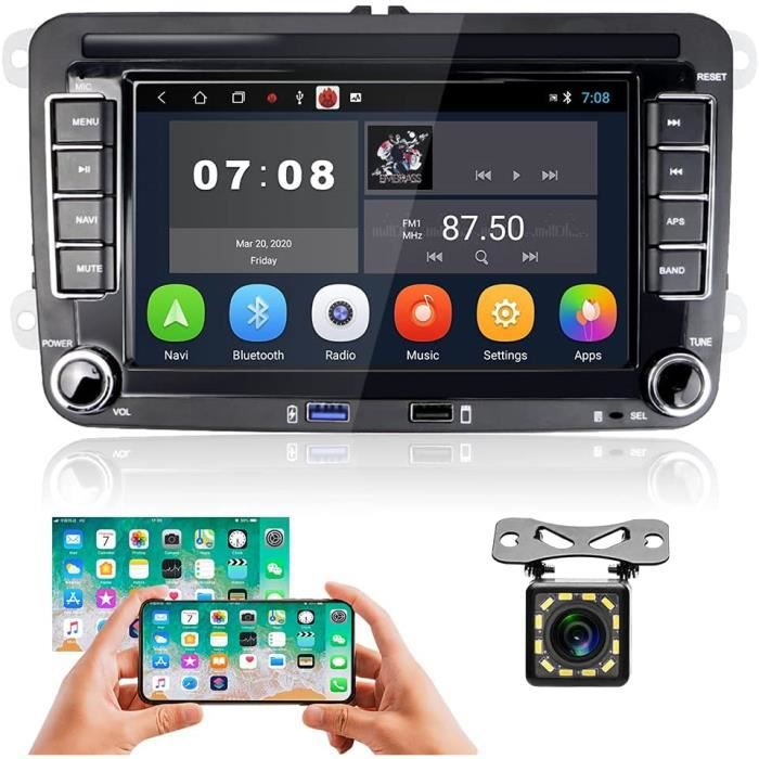 Android Autoradio pour VW Golf Polo Passat, Hikity Bluetooth Autoradio Navigation GPS Récepteur Radio FM à écran Tactile De 7 [30]