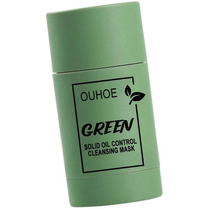 Generp-AT Bâton De Masque Facial Au Thé Vert Masque Facial Contrôle De l'huile Antiacné Aubergine Solide Fine Masque Facial À L'608