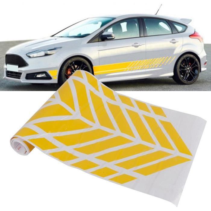 Duokon Autocollant de voiture Autocollant autocollant de bande de bande de taille de côté de carrosserie de voiture auto-adhésif