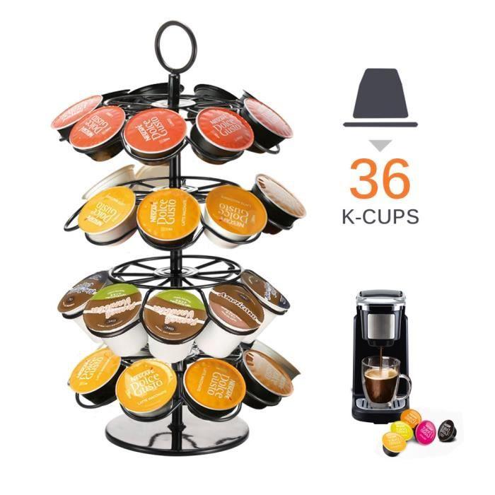 Ensembles à café,Support de tour de Capsule rotatif support de support de Capsules de café pratique pour - Type for 36pcs K-Cup