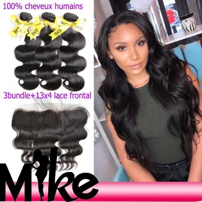 Lot 3 tissage bresilien boucle + closure 7A cheveux naturels humain 28-30-32-+13*4 lace closure 20- body wave