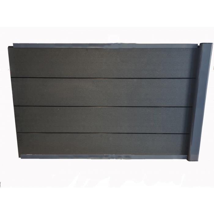 kit extension complet pour clôture composite 1,50 ML x 1,80 H - L: 150 cm - Gris anthracite