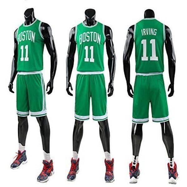 Maillot NBA Star Celtics Kyrie Irving, T-Shirt De Basket-Ball pour Hommes Et Shorts De Basketball - Vert
