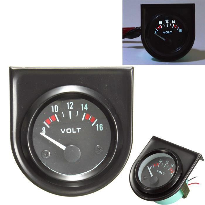 NEUFU 2&quot 52mm Universel 8 -16V LED Voltmètre Tension Gauge Tableau Manometre Voiture