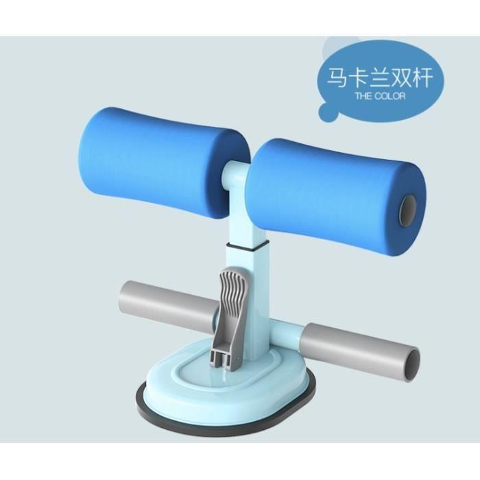 Sit-Up Bar Aid-Accessoires Portable Double Ventouse Avec Cheville Rembourrée Abdominaux Fitness Aid - Bleu