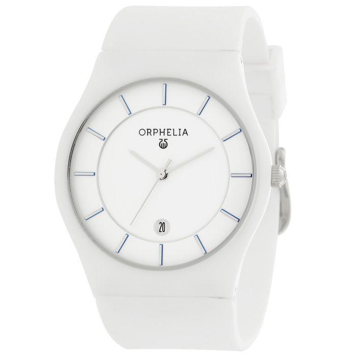 ORPHELIA - Montre Mixte - Quartz - Analogique - Bracelet en Silicone - Blanc - OR66502