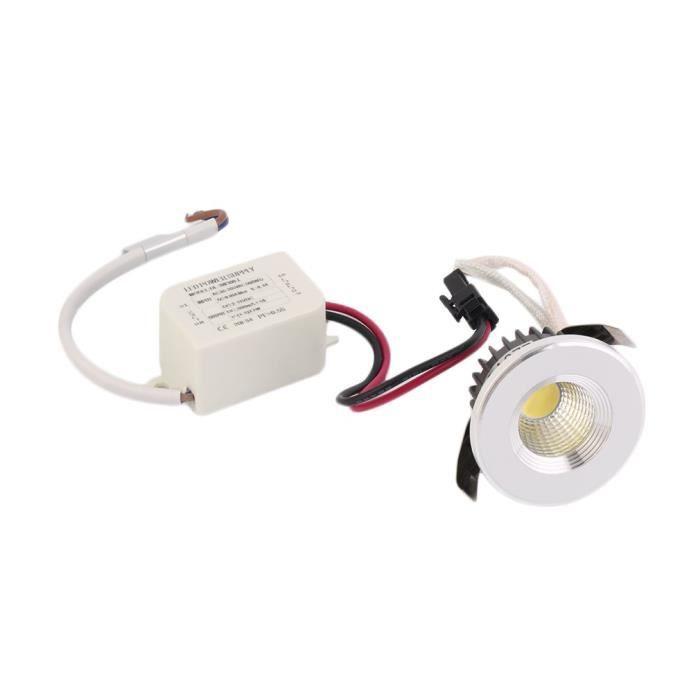 COB 3W LED Encastré Plafonnier Downlight Spot Lampe Blanc Chaud Froid Maison