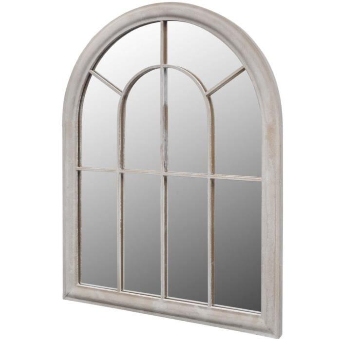 Luxueux Magnifique-Miroir de Jardin Arche rustique 89 x 69 cm Intérieur et Extérieur