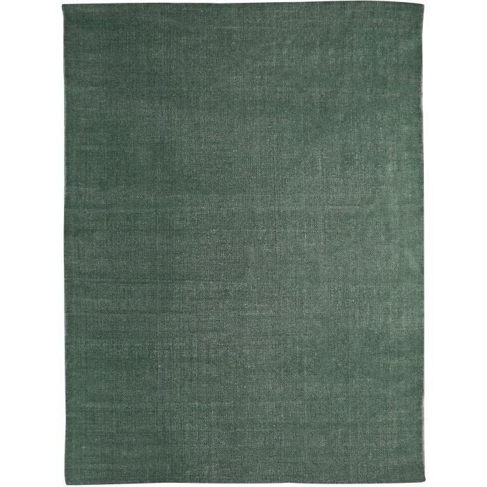 Tapis DUNES coton 160x230 vert foncé
