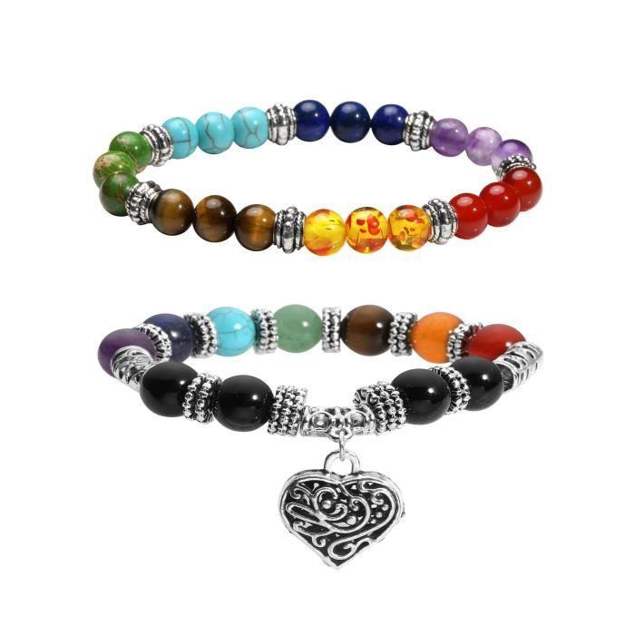 8 Mm Lava Rock Bracelet élastique pierres naturelles Yoga Perles Bracelet Hommes Femmes