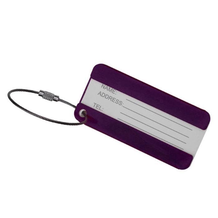 Gespout /Étiquette De Bagage Violet Accessoire De Voyage Valise Sac en Silicone Id/éal pour Avion Train Bus