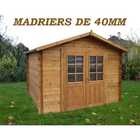 abri de jardin 9m en bois 40mm autoclave teint marron gardy shelter achat vente abri. Black Bedroom Furniture Sets. Home Design Ideas
