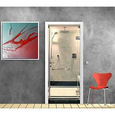 sticker pour porte cabine douche ref 870 dimensions 63x204cm achat vente stickers cdiscount. Black Bedroom Furniture Sets. Home Design Ideas