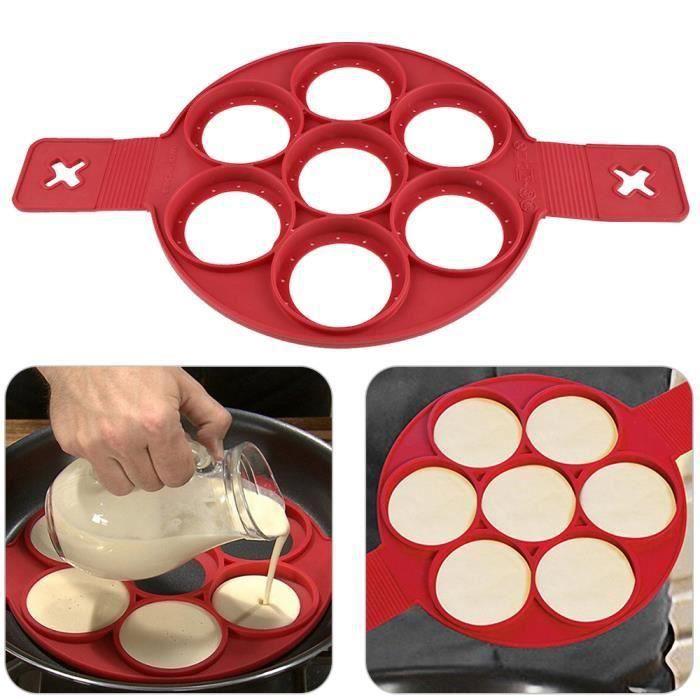 MOULE  Pancake magique antiadhésif 7 Moules à gateaux Oeu