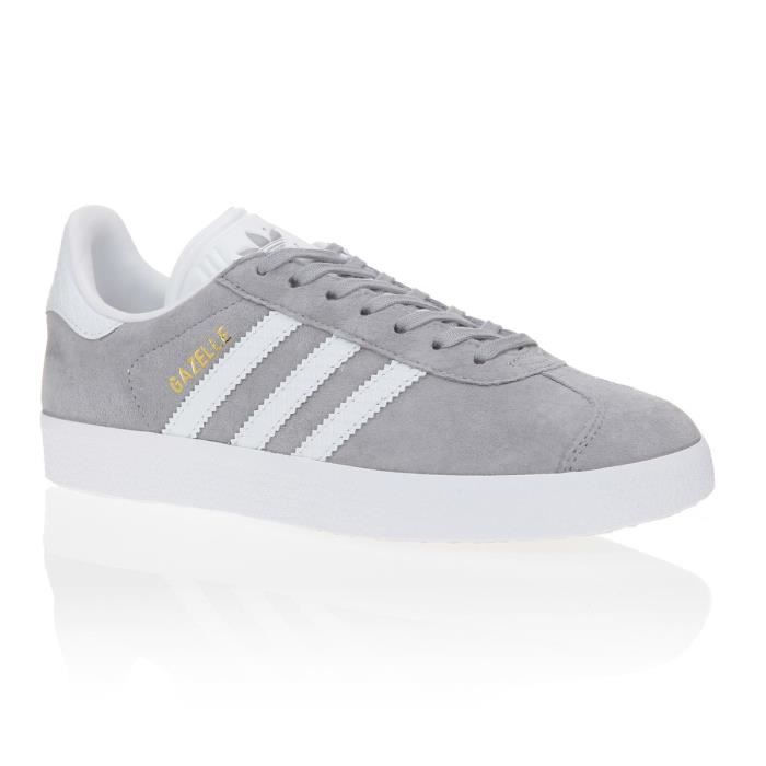 ADIDAS ORIGINALS Baskets Gazelle Femme Gris Et Blanc