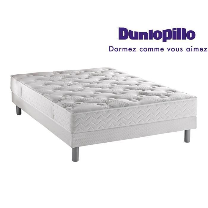ensemble dunlopillo matelas aero luxe sommier pieds 140x190 achat vente ensemble literie. Black Bedroom Furniture Sets. Home Design Ideas