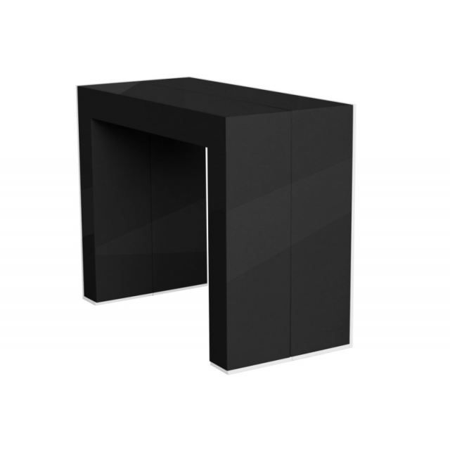 console meuble noir. Black Bedroom Furniture Sets. Home Design Ideas
