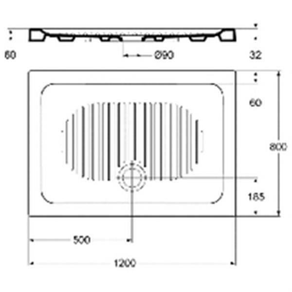 RECEVEUR DE DOUCHE Ideal standard Receveur CONNECT rectangulaire 120x