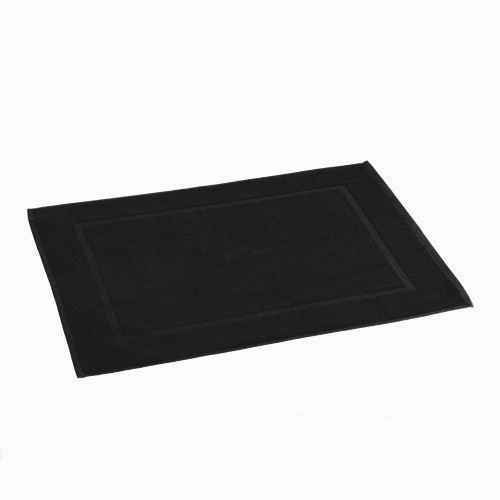 tapis de bain 50 x 70 cm noir achat vente tapis bain cdiscount. Black Bedroom Furniture Sets. Home Design Ideas