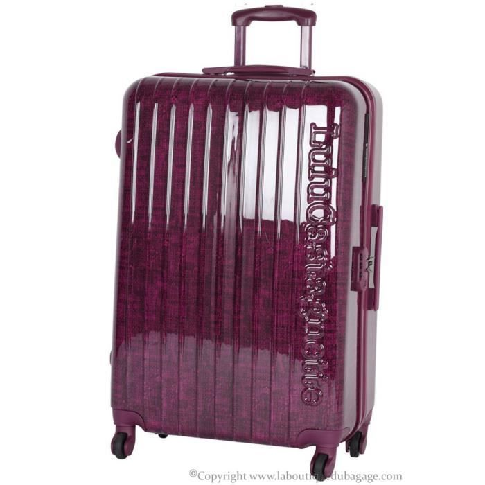 lulu castagnette valise rigide moyen s jour nbl burgundy violet achat vente valise bagage. Black Bedroom Furniture Sets. Home Design Ideas