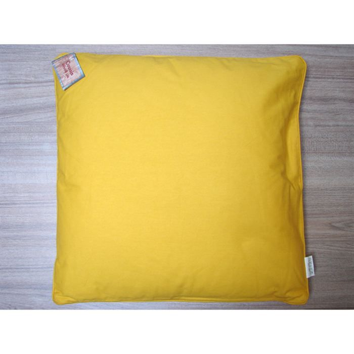 coussin 60x60 cm panama jaune d housable achat vente coussin cdiscount. Black Bedroom Furniture Sets. Home Design Ideas