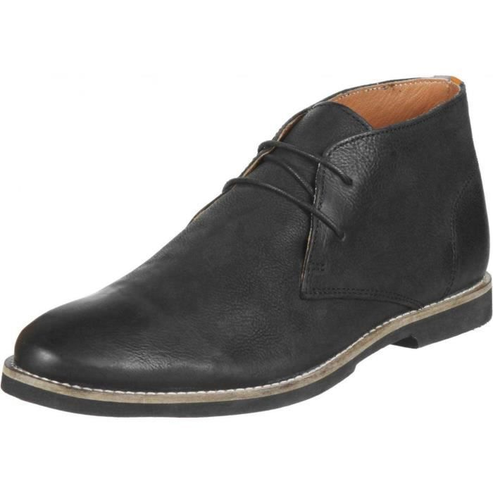 Chaussures Montante FRANCK WRIGHT Totton black leather Homme Pointure 45