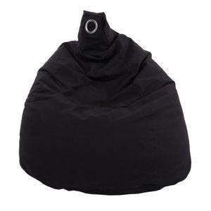 POUF - POIRE Poire déhoussable en coton FLO - Ø75x110 cm - Noir