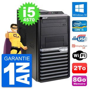 ORDI BUREAU RECONDITIONNÉ PC Tour Acer Veriton M4630G Intel i5-4570 RAM 8Go