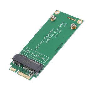 CARTE CONTROLEUR mSATA SSD vers SATA Mini PCIE SSD adaptateur de ca