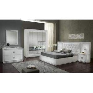 Chambre à coucher model KRISTEL blanc - Achat / Vente ...