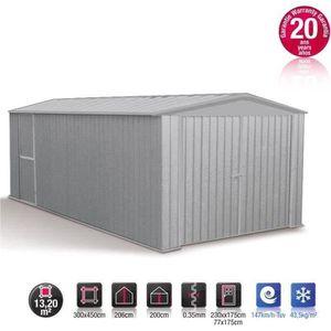 GARAGE Garage métal gris acier absco 13,20m²