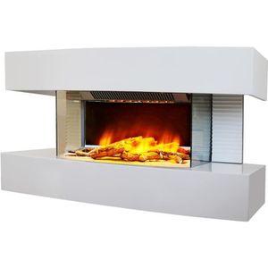 CHEMINÉE Chemin'arte - cheminée électrique 2000w blanc - lo