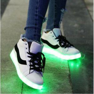 BASKET Haute Qualité chaussures LED USB rechargeable allu