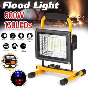 Projecteur LED 100W /éclairage de camping ext/érieur pour co 13200mAh niveau 3 /à intensit/é variable projecteur de travail portable projecteurs rechargeables flash de secours rouge et bleu 8000LM