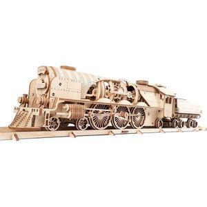 PUZZLE Maquette en bois : Train à Vapeur V-Express avec t