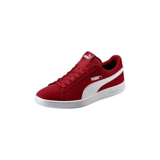 Chaussures Puma Smash V2 Rouge Rouge - Achat / Vente basket