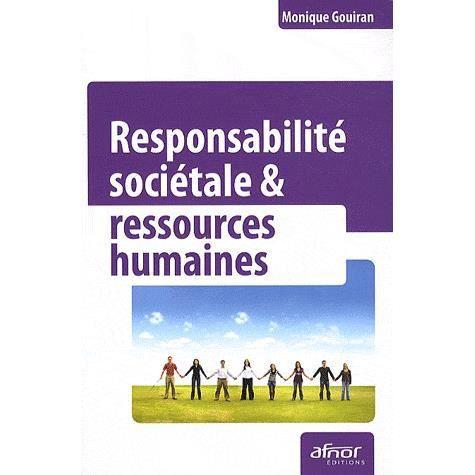 LIVRE  RH Responsabilite sociétale & ressources humaines
