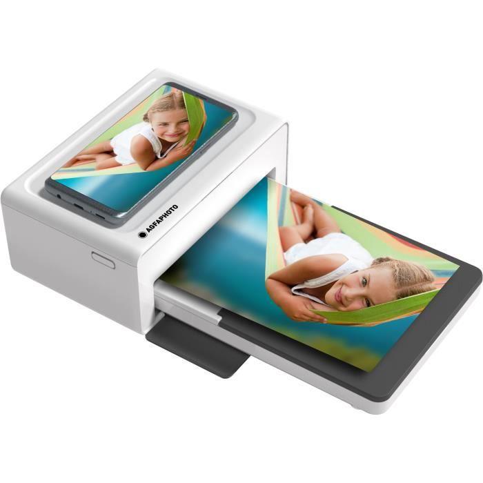 AGFA AMO46 Imprimante Photo Realpix Moment - 4*6- - Bluetooth - Blanc