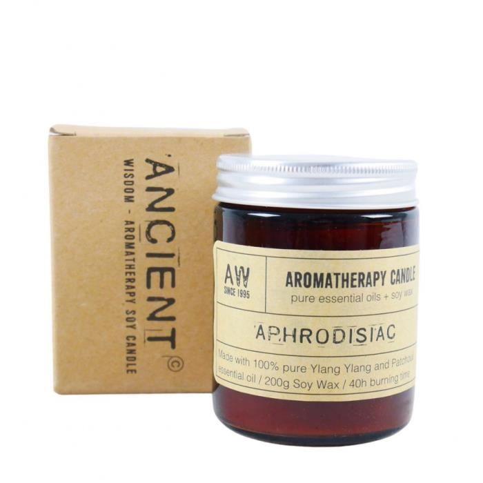 Bougie aromathérapie à la cire de soja senteur Ylang Ylang & Patchouli 200g / 40h