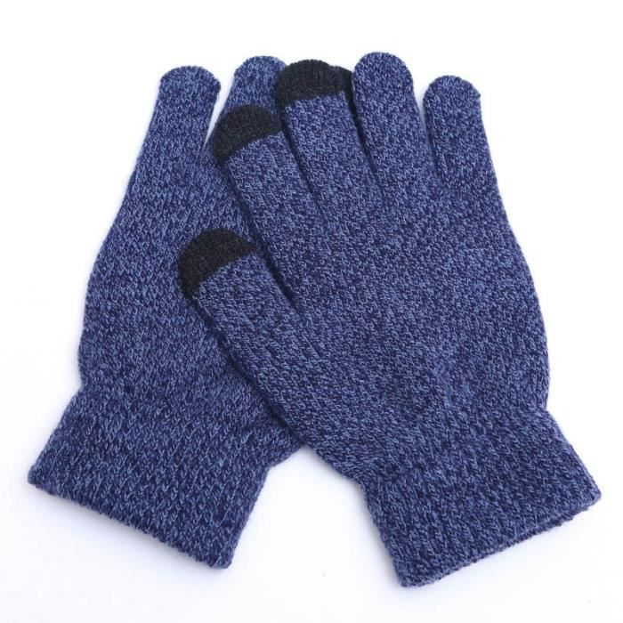 ELEGANCE ESTELLE Gant Laine Hiver Adulte écran tactile gants femmes chaud Stretch tricoté sans couture à laine pleins doigts