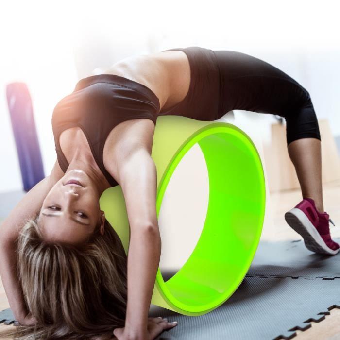 Cercle de roue d'équilibre de Yoga Stretch Bend pour la remise en forme, exercice d'amincissement (vert)