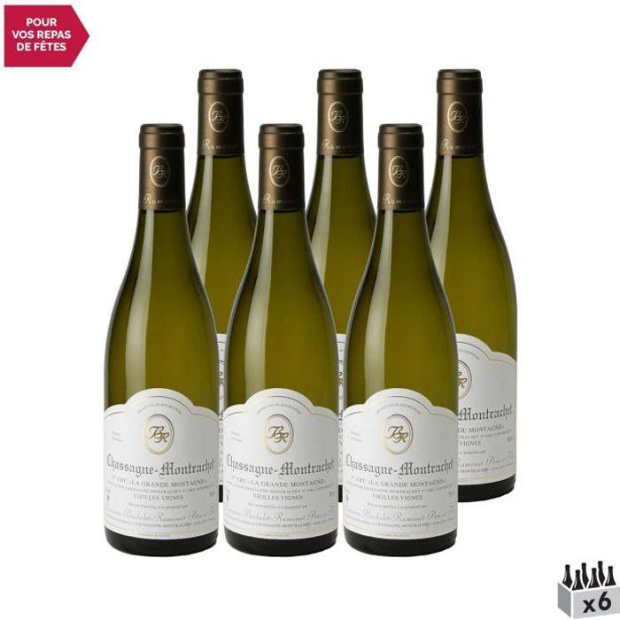 Chassagne-Montrachet 1er Cru La Grande Montagne Blanc 2019 - Lot de 6x75cl - Domaine Bachelet-Ramonet - Vin AOC Blanc de Bourgogne