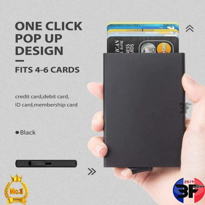 Porte Carte en Aluminium*Porte Carte de Crédit Bancaire RFID**FFF