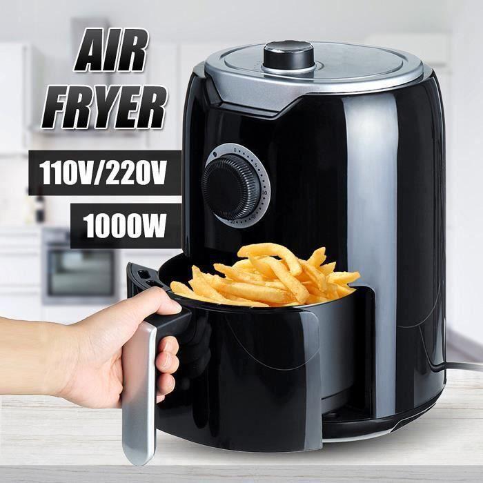 1000W 2L Friteuse à air électrique chaud Sans Huile Multifonction Cuisine EU