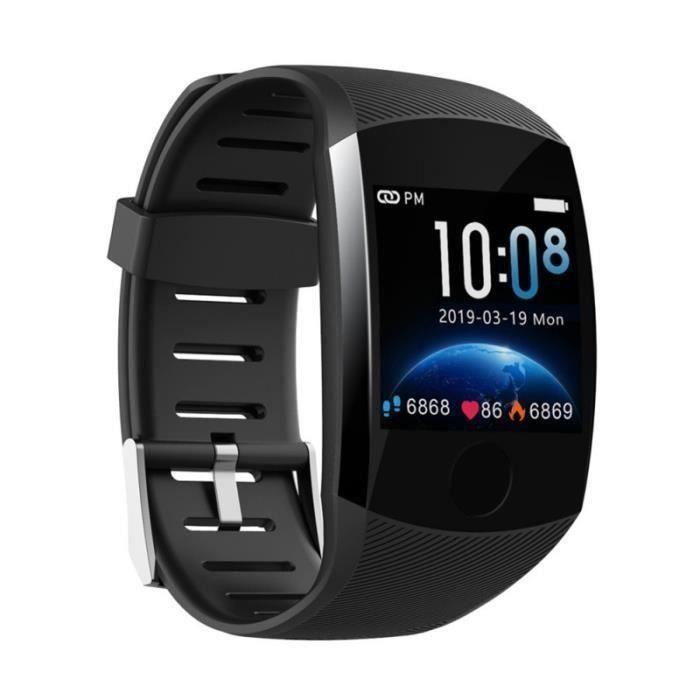 Moniteur D'activité Smartwatch Noir, Montre Connectée Homme Femme IP67 étanche Sport Fitness avec Moniteur de Fréquence Cardiaque