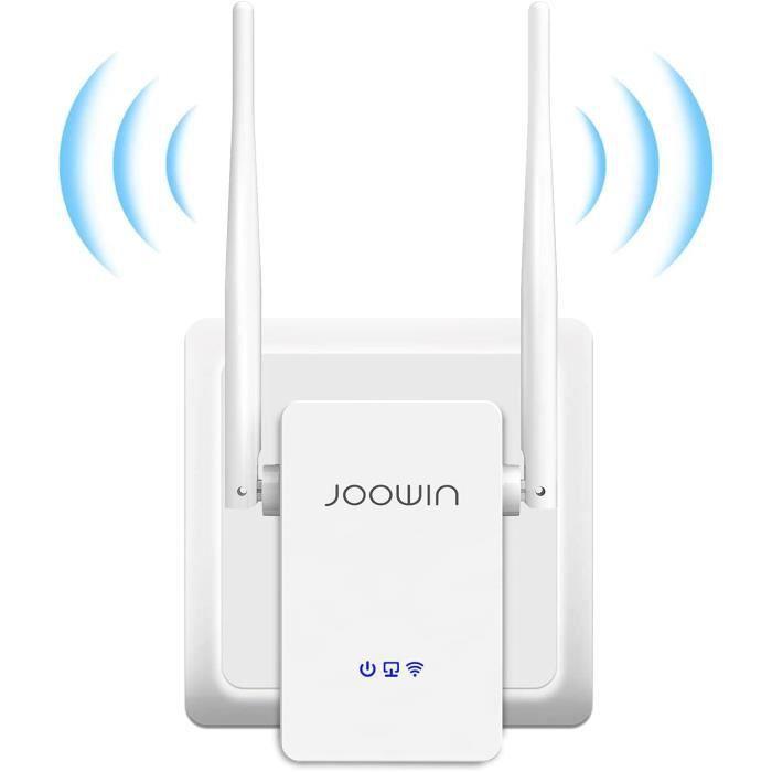 JOOWIN Répéteur WiFi, 300Mbps 2.4GHz Amplificateur WiFi , WiFi Extender, WiFi Booster, avec AP-routeur-répéteur Trois Modes, 2 A5