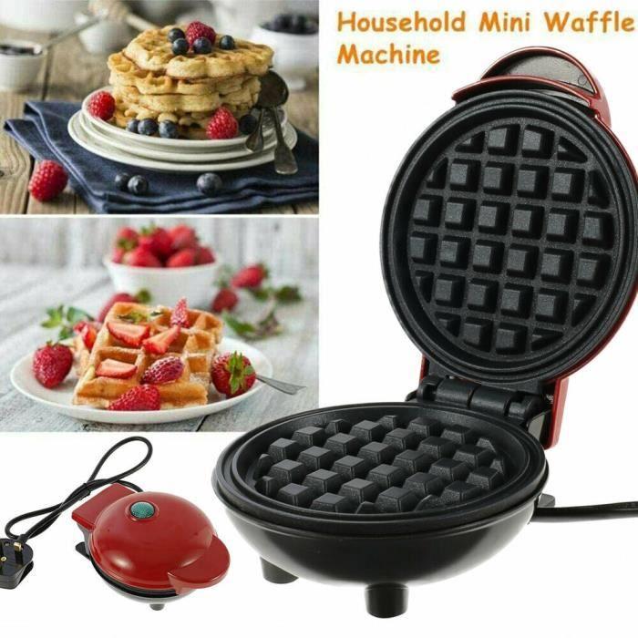 Mini gaufrier Fabrication de petit-déjeuner à crêpes rondes antiadhésives de mini machine à gaufres gastronomiques