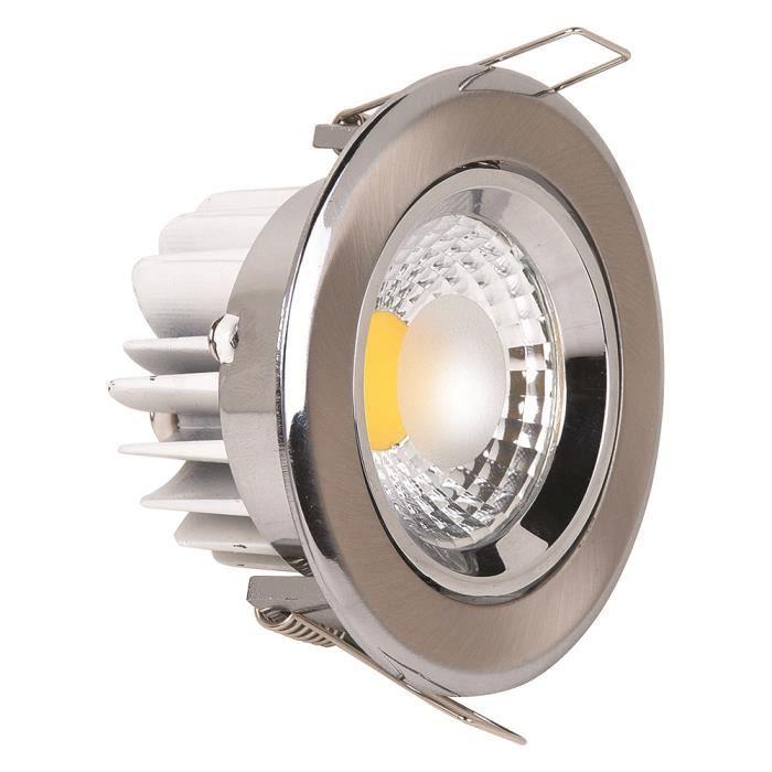 Spot LED downlight 5W rond Mat chrome