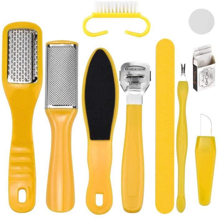 Râpe Pied Outils de Pédicure Lime à Pied Rapeuse Pieds,Lime pour Pieds Kit pour Enlever la Peau Morte, Corne et les Durillons