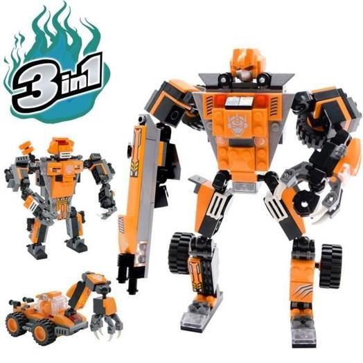 Jeux de Construction garçons de 6 à 12 Ans Cadeau Jouet Enfants - Robot Jouet - 3 en 1 Set créatif divertissant -